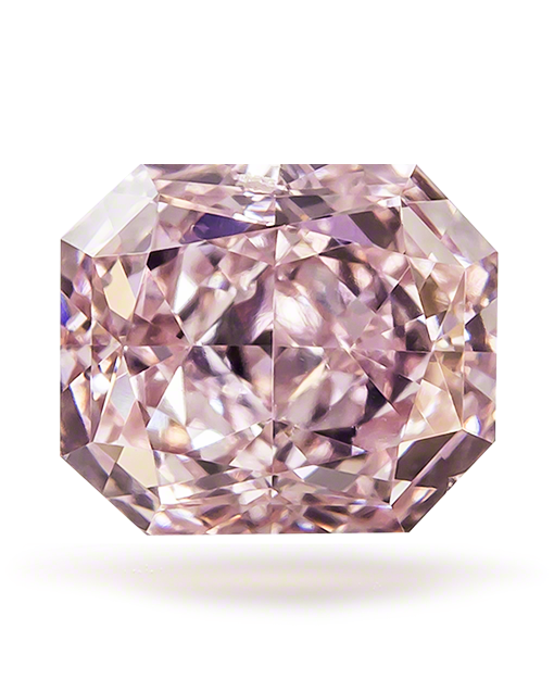 Fancy Pink Diamond Radiant Cut VS2 0.43 ct
