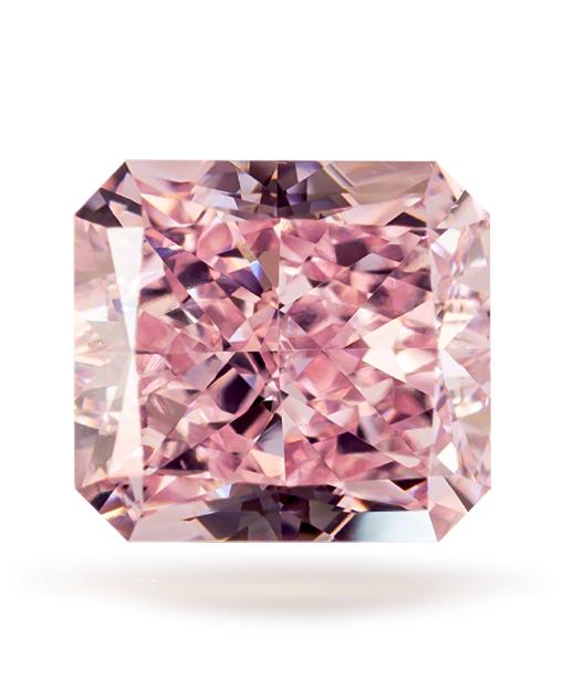 0.46 ct Fancy Pink Radiant Cut VS2