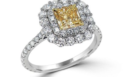 Blossoming Fancy Yellow Diamond Ring